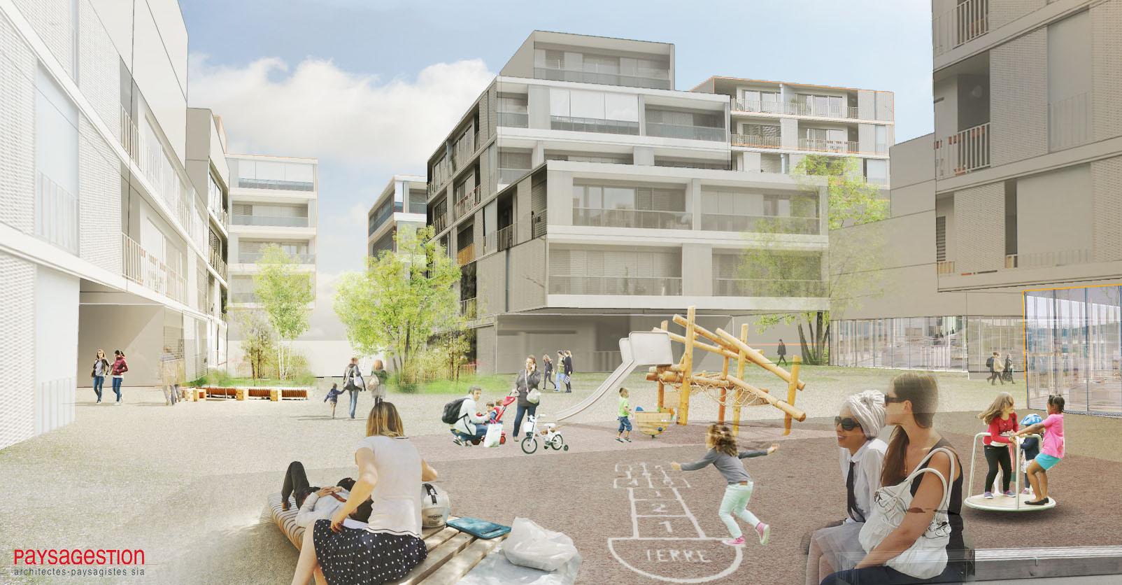 Quartier du Rolliet - Atelier Espaces publics