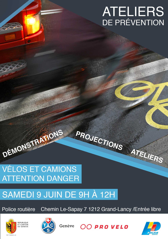 Vélos et camions : attention danger !
