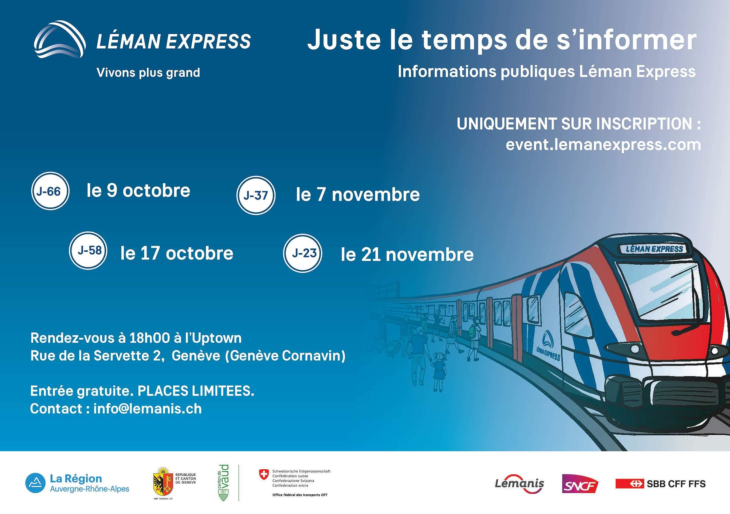 Séances d'informations Léman Express - 7.11.2019