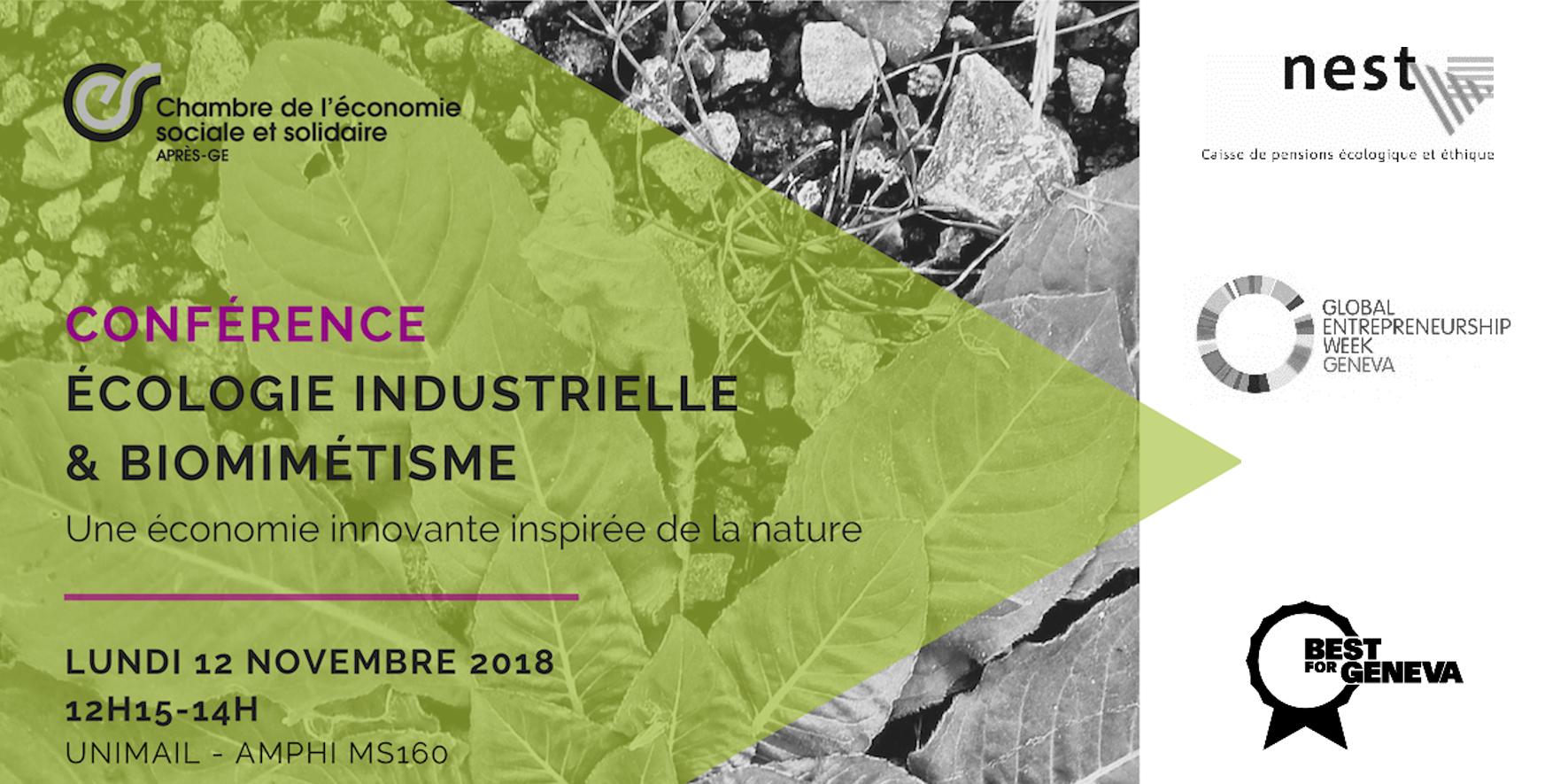 Conférence sur l'écologie industrielle et le biomimétisme