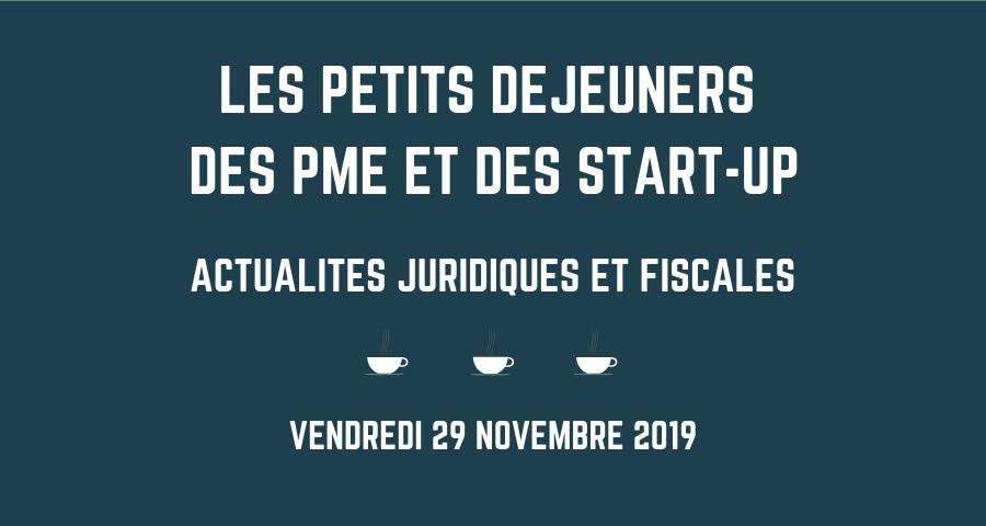 Petit déjeuner des PME et des start-up (novembre 2019)