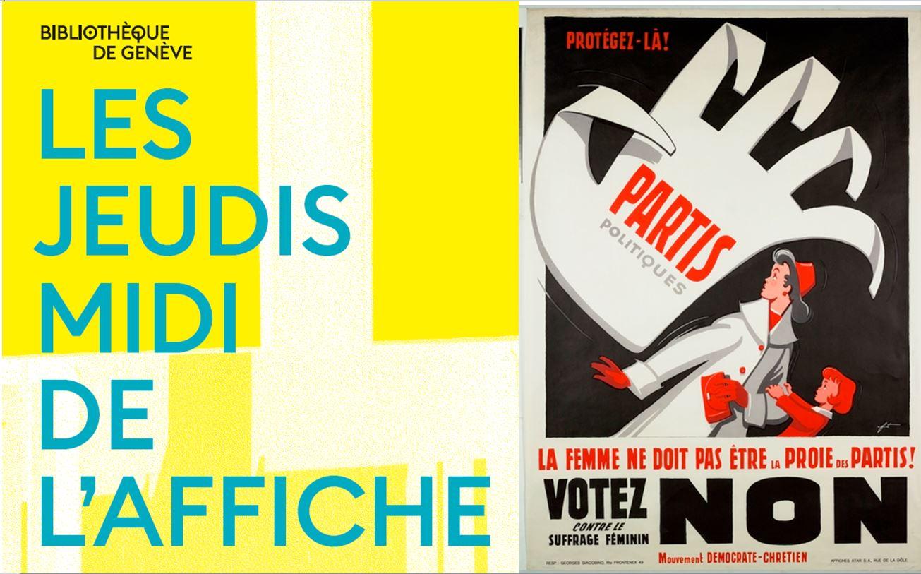 """Conférence """"Le suffrage féminin à Genève raconté en affiches"""""""
