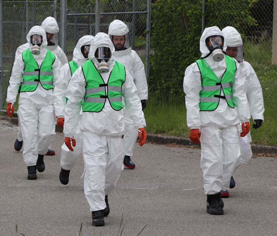 Exercice bombe radiologique au stade de Genève