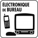 Pictogramme dechets electronique de bureau