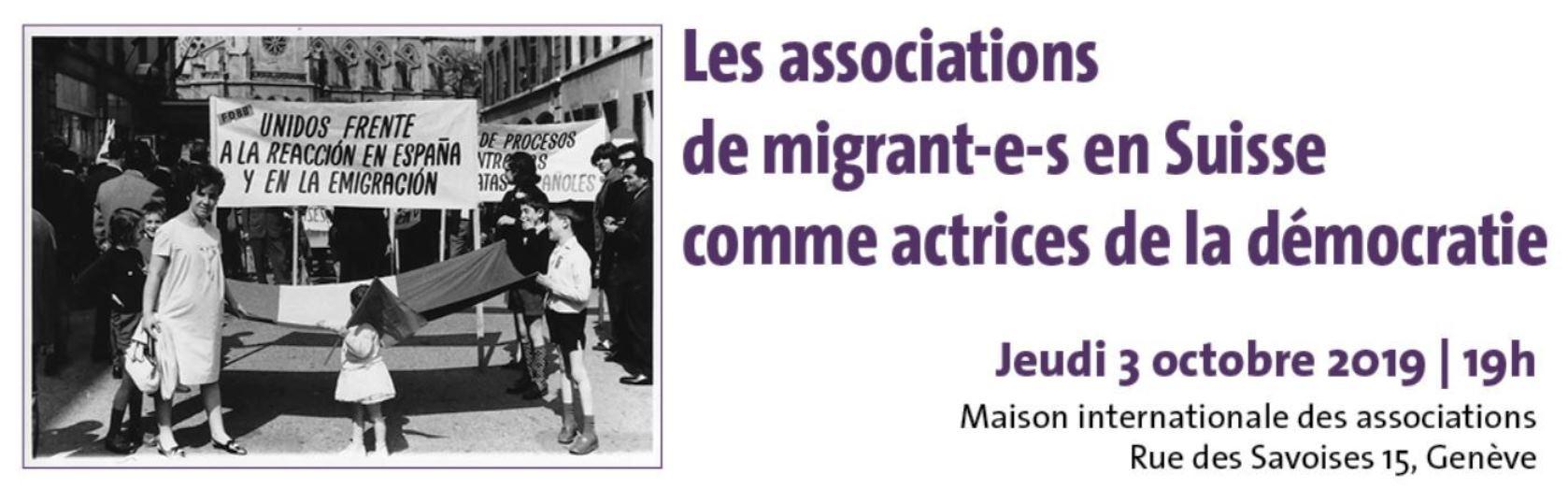 23. Les associations de migrant-e-s en Suisse comme actrices de la démocratie