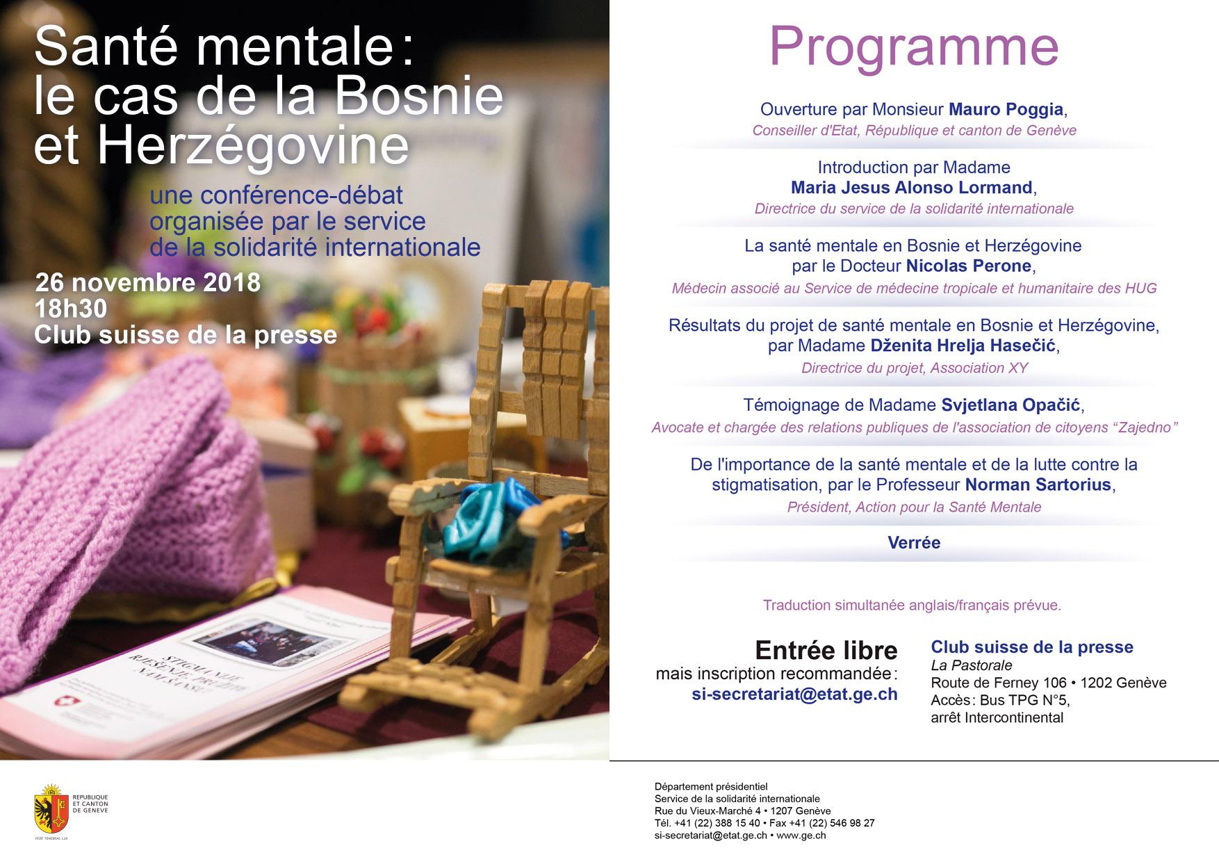 Santé mentale: le cas de la Bosnie et Herzégovine