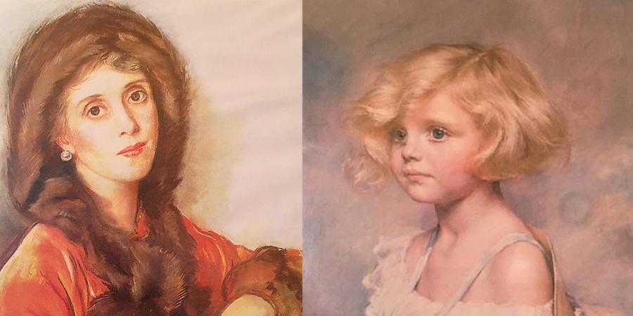 La comtesse Zoubov (Z. Serebriakova, 1939) et sa fille Tatiana (pastel de Marie-Thérèse Géraldy). Fondation Zoubov