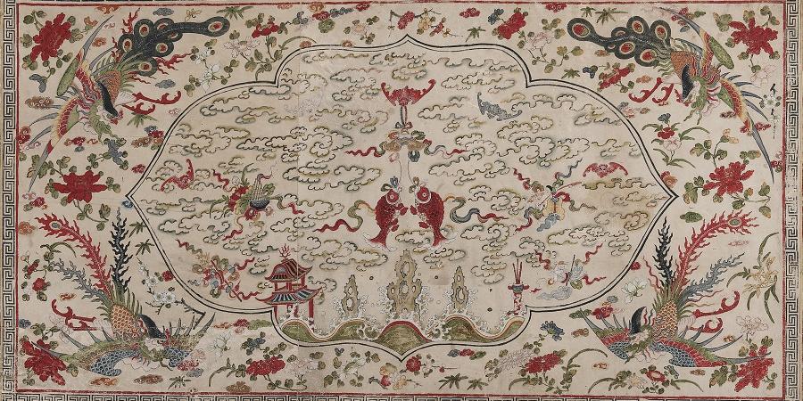 Dynastie Qing, vers 1750-1800. Détrempe sur peau de daim marouflée sur toile. Photothèque du Musée d'art et d'histoire de Genève