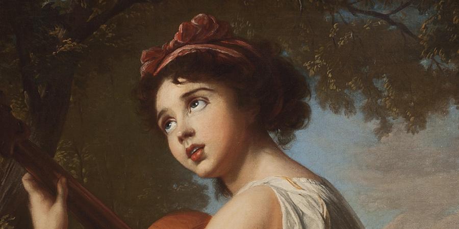 Elisabeth Louise Vigée Le Brun, Julie Le Brun jouant de la guitare, huile sur toile, vers 1797-1798. Photothèque du MAH