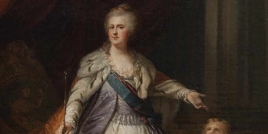 Giovanni Battista I Lampi, portrait de Catherine II de Russie, huile sur toile, vers 1792-1796. Photothèque du MAH