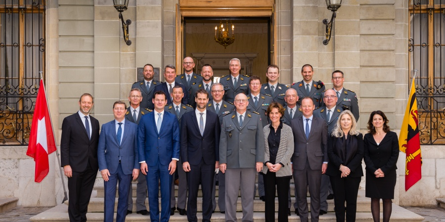 Déjeuner en l'honneur des officiers généraux et supérieurs de l'Armée suisse