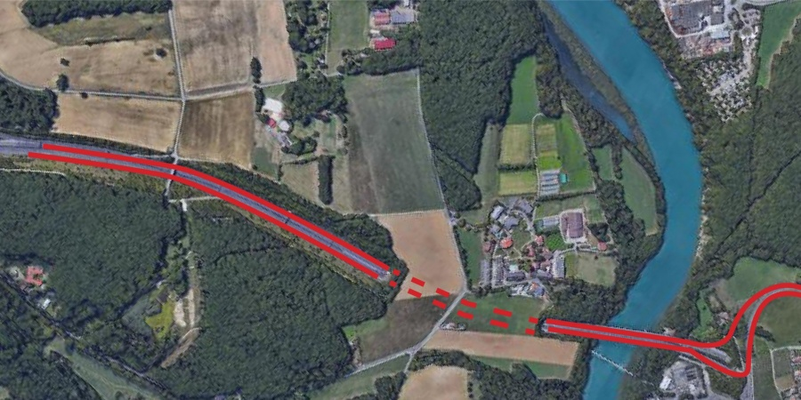 Demi-jonction autoroutière © Google Earth