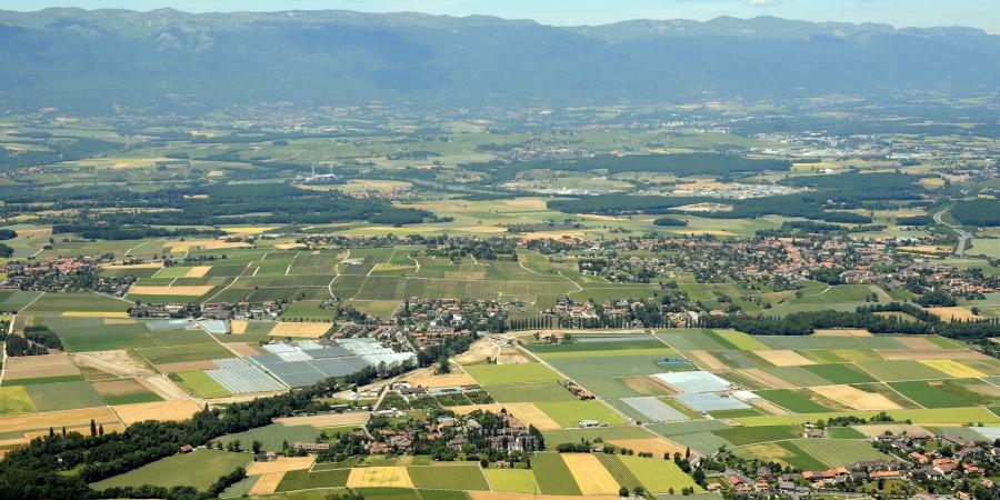 Vue du Salève sur le canton et l'Aire © ADR
