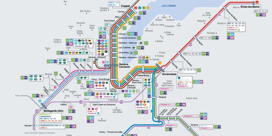 Plan réseau Léman Express
