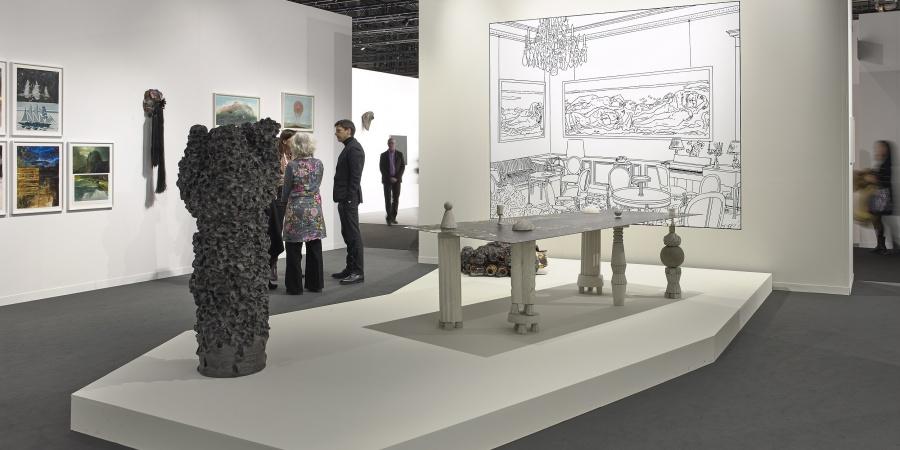 Vue de l'exposition Art Genève 2017. © Serge Frühauf