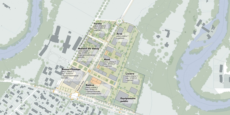 Plan d'ensemble Grands Esserts © AETC