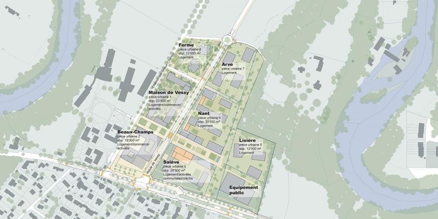 Plan d'ensemble des Grands Esserts © AETC