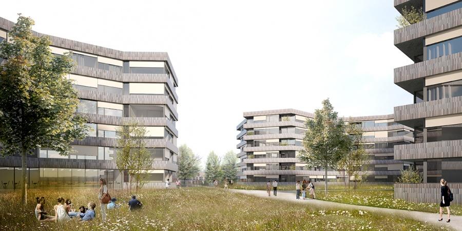 Projet lauréat du concours © Pont 12 architectes SA