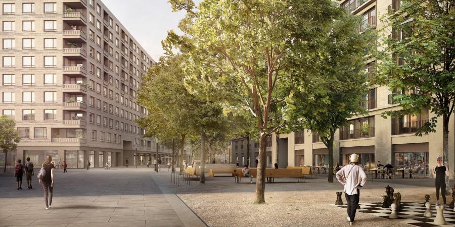 Les Vernets - espaces publics © Losinger Marazzi SA