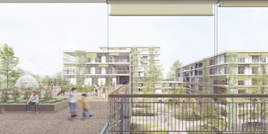 La rue surélevée - Projet lauréat pièce A5  ©  Group8