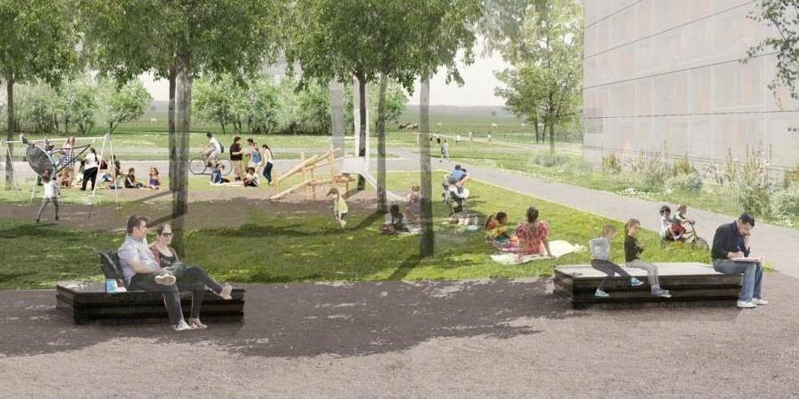 Projet urbain PLQ Grouet ©  Fischer&Schär