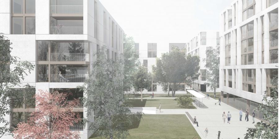 Quartier Adret - Lots B+C © lopes & Périnet-Marquet Architectes, Genève