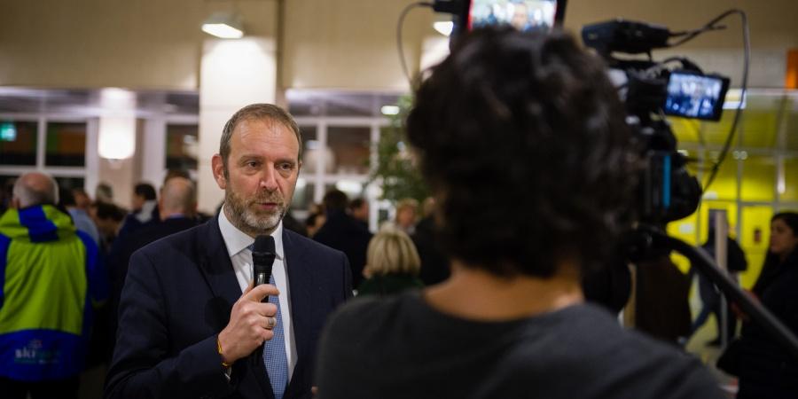 Thierry Apothéloz, conseiller d'Etat chargé du département de la cohésion sociale