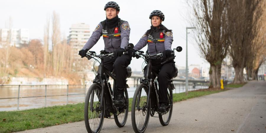 Patrouille en vélo police municipale