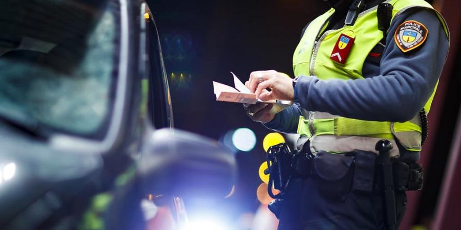 Contrôle routier police municipale