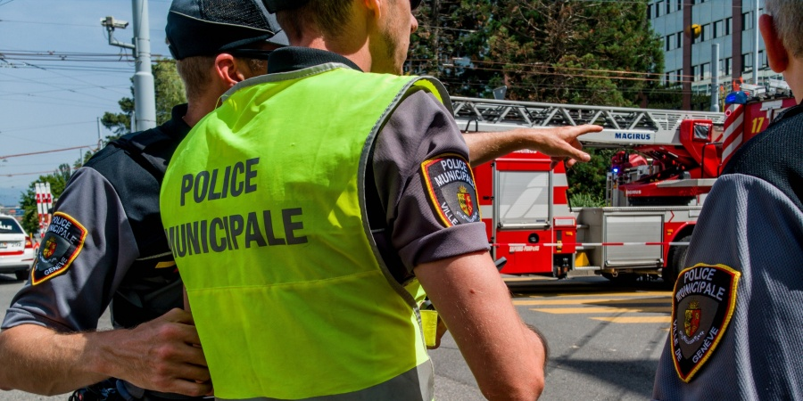 Intervention pompier avec police municipale