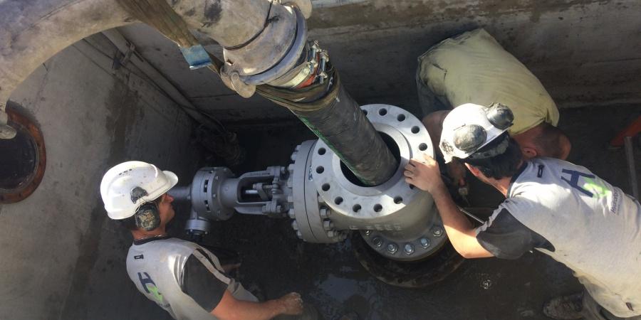 Installation du forage et récupération de l'eau