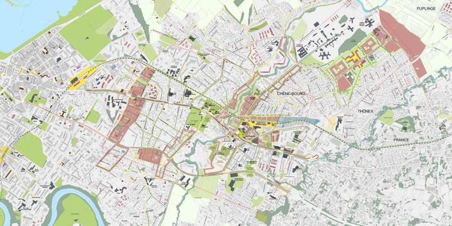 Plan guide du grand projet Chêne-Bourg - Chêne-Bougeries