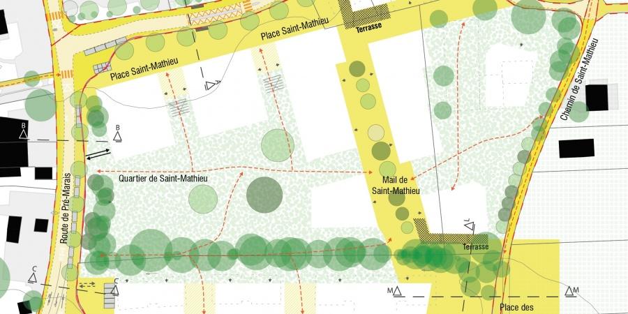 Plan de situation Saint-Mathieu © Agence LVLM