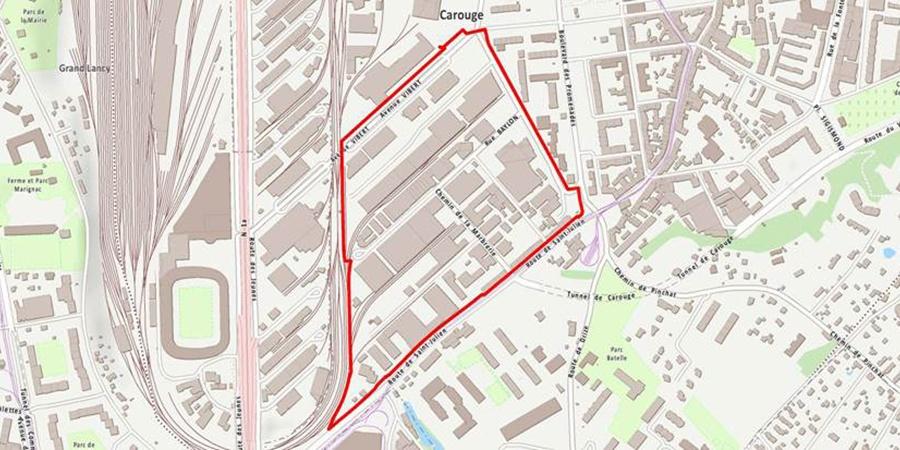Plan de localisation du quartier de Grosselin