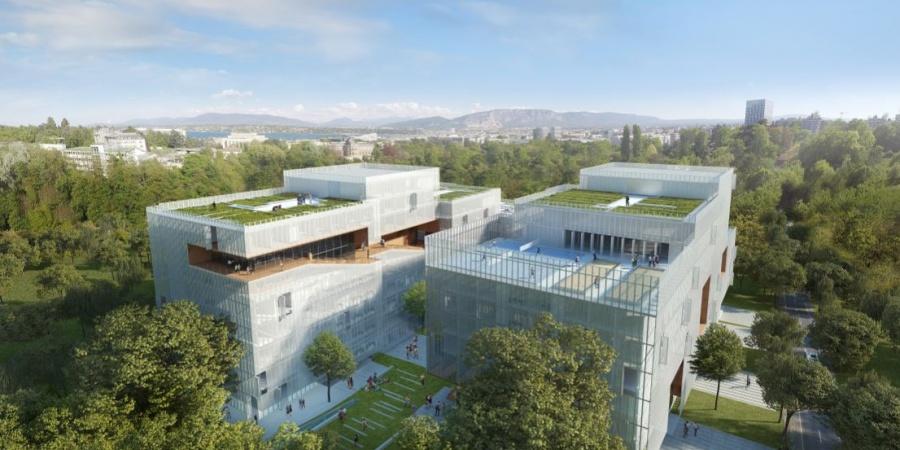 Nouveau bâtiment de l'IHEID / Coût : 100 mio CHF : / Réalisation 2019-2020 / © IHEID