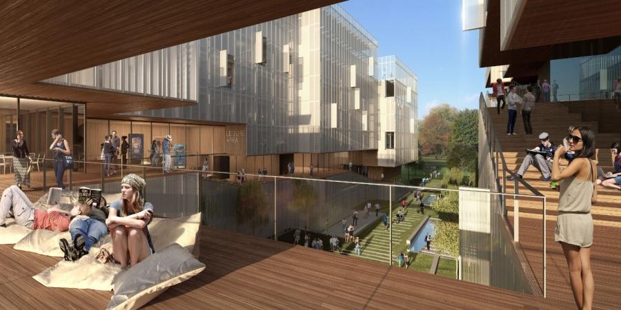 Nouvelle résidence pour étudiants - passerelle / © IHEID