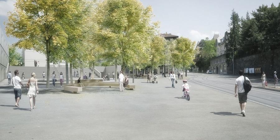 Parvis Chêne © msv architectes/François Gschwind