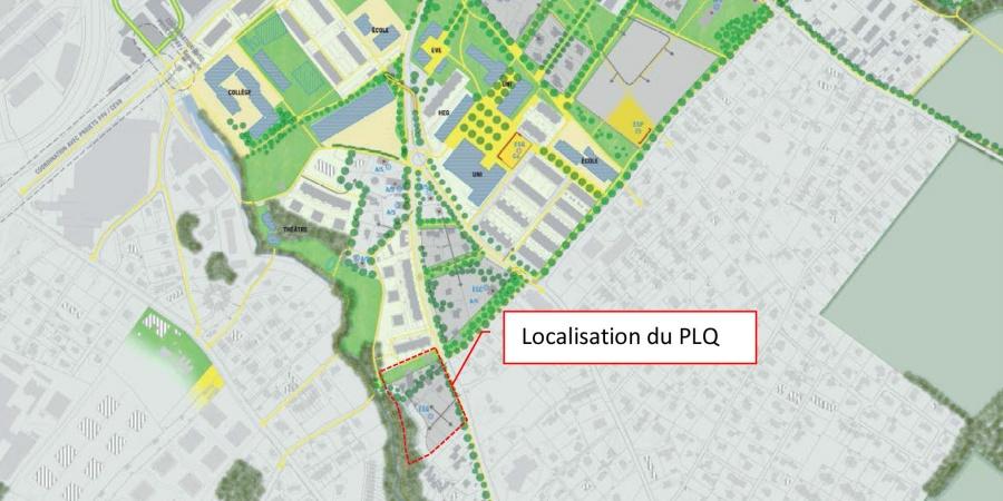 localisation du projet - Stratégie d'aménagement Carouge-sud