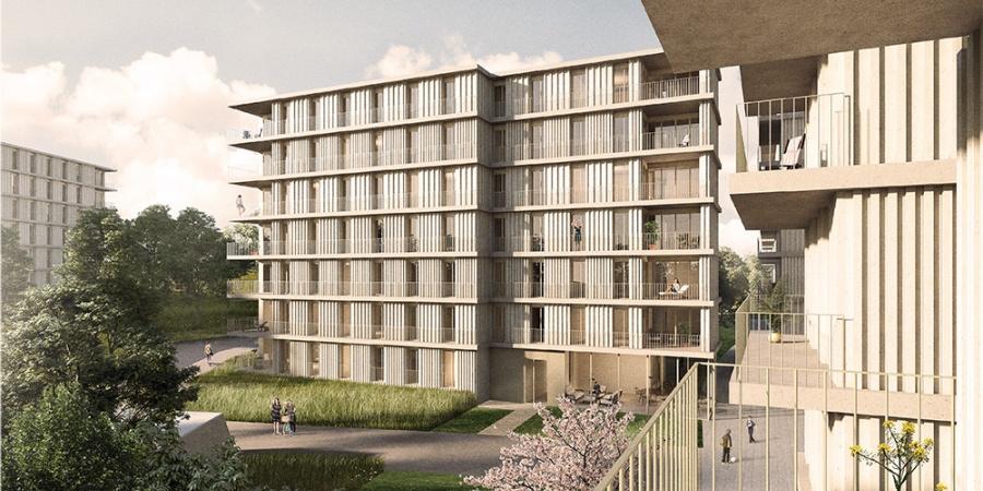 Quartier logement Adret - Lots D, E et L13 © TRIBU architecture Lausanne