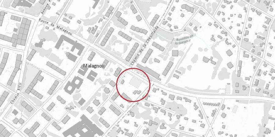 Plan de localisation Malagnou - Velours