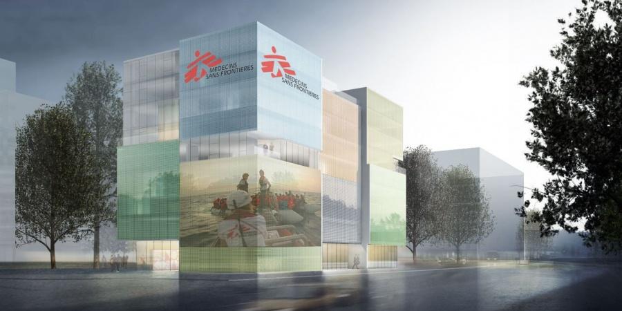 Nouveau bâtiment de MSF - vue extérieure / © MSF