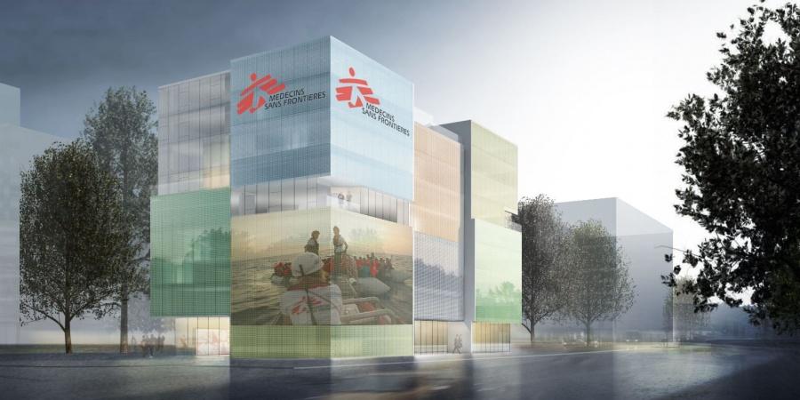 Nouveau bâtiment de MSF / Coût : 43 mio CHF / Réalisation : 2019-2021 / © MSF
