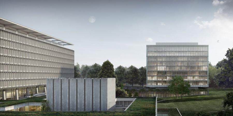 Nouveau bâtiment de l'OMS / Coût : 140 mio CHF / Réalisation : 2017-2020 / © OMS et BBK Architekten