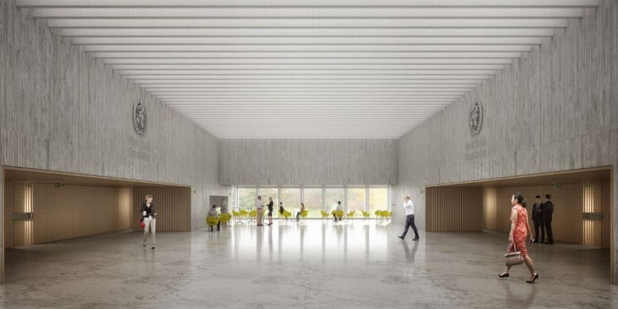 Foyer central / © OMS et BBK Architekten