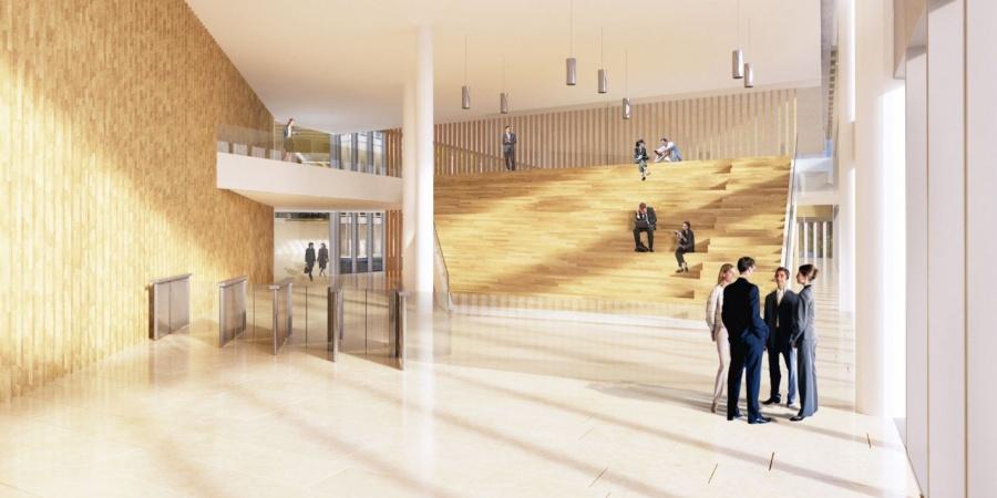 Hall du nouveau bâtiment / © Skidmore, Owings & Merill Inc / Burckhardt + Partner SA