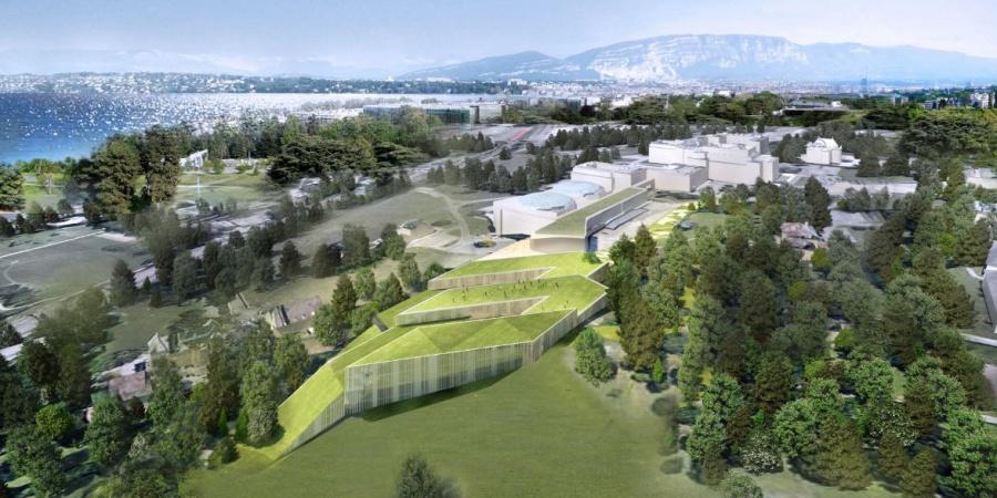 Vue globale du nouveau bâtiment / © Skidmore, Owings & Merill Inc / Burckhardt + Partner SA