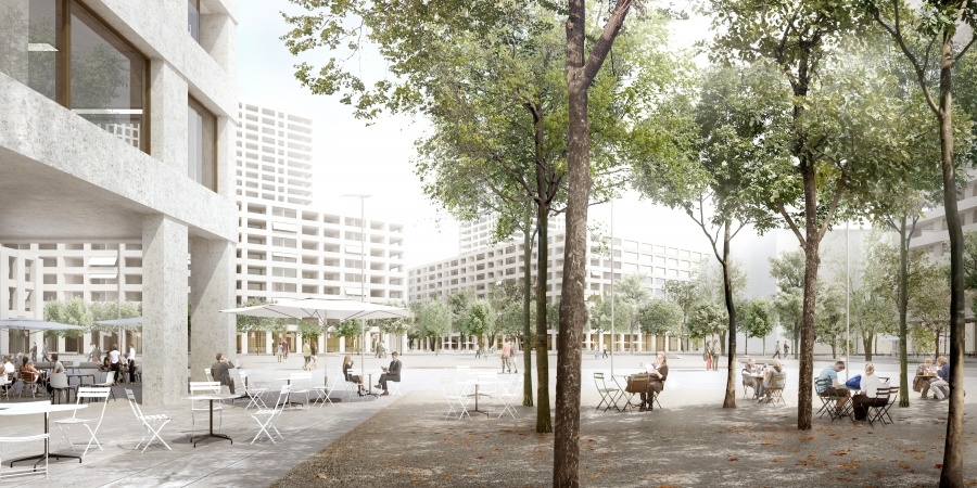 Espace public de l'Etoile © Dupraz & Byrne