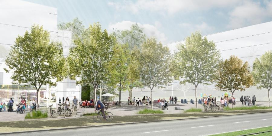 Place des Marronniers - Saint-Mathieu © Agence LVLM