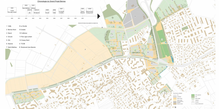 Carte du grand projet Bernex
