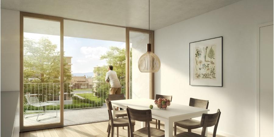 Saint-Mathieu- vue d'un appartement - coeur d'ilot (c) Opalys Project
